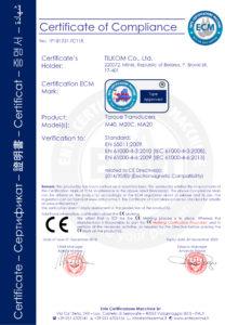 certyfikat CE czujników momentu TILKOM